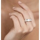 Mens 5ct G/Vs Diamond Platinum Full Band Ring - image 4