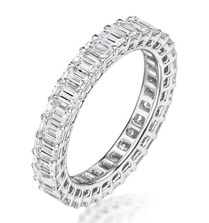 Francesca Diamond Eternity Ring Emerald Cut 6.76ct VVs Platinum O-W