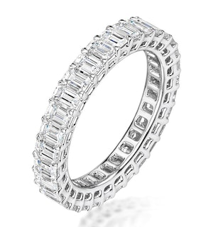 Francesca Diamond Eternity Ring Emerald Cut 6.5ct VVs Platinum J-N