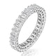 Francesca Diamond Eternity Ring Emerald Cut 6.5ct VVs Platinum J-N - image 1