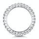 Francesca Diamond Eternity Ring Emerald Cut 6.5ct VVs Platinum J-N - image 3