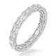 Viola Diamond Eternity Ring Emerald Cut 2.72ct VVs Platinum Size H-I - image 1