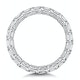 Viola Diamond Eternity Ring Emerald Cut 2.72ct VVs Platinum Size H-I - image 3