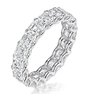Elisa Diamond Eternity Ring Asscher Cut 4.94ct VVs Platinum Size H-I