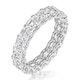 Elisa Diamond Eternity Ring Asscher Cut 4ct VVs Platinum Size J-N - image 1