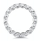 Elisa Diamond Eternity Ring Asscher Cut 4ct VVs Platinum Size J-N - image 3