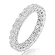 Elena Diamond Eternity Ring Asscher Cut 3.2ct VVs Platinum Size H-I - image 1