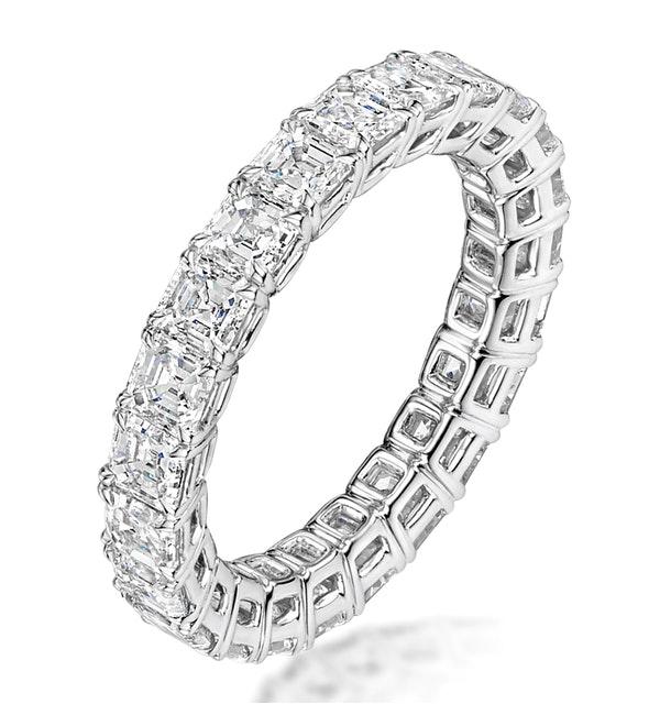 Elena Diamond Eternity Ring Asscher Cut 3.2ct VVs Platinum Size H-I - image 1