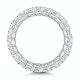 Elena Diamond Eternity Ring Asscher Cut 3.2ct VVs Platinum Size H-I - image 3