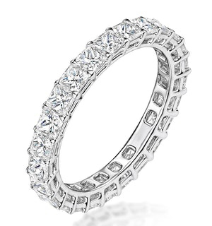 Gabrielle Diamond Eternity Ring Princess Cut 2.4ct VVs Platinum J-N