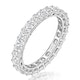 Gabrielle Diamond Eternity Ring Princess Cut 2.6ct VVs Platinum O-W - image 1