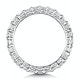 Gabrielle Diamond Eternity Ring Princess Cut 2.6ct VVs Platinum O-W - image 3