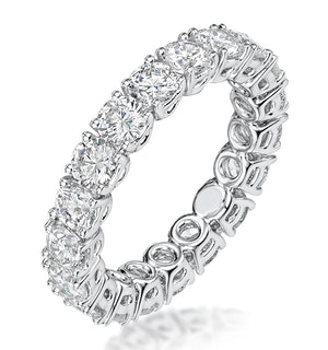 Stella Diamond Eternity Ring Round Cut 4ct VVs Platinum Size J-N