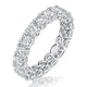 Stella Diamond Eternity Ring Round Cut 3.57ct VVs Platinum Size H-I - image 1