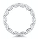 Isla Diamond Eternity Ring Oval Cut 3.38ct VVs Platinum Size H-I - image 3