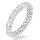 Sienna Diamond Eternity Ring Oval Cut 1.7ct VVs Platinum Size H-I - image 1