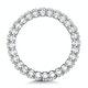 Sienna Diamond Eternity Ring Oval Cut 1.7ct VVs Platinum Size H-I - image 3