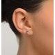 Tanzanite 5 x 4mm 18K Gold Earrings - image 4