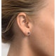 Tanzanite 5 x 4mm 18K White Gold Earrings - image 4