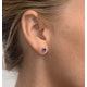 Tanzanite 5 x 4mm 18K White Gold Earrings - image 2