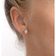 Opal 7 x 5mm 18K Yellow Gold Earrings - image 2