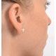 Opal 7 x 5mm 18K Yellow Gold Earrings - image 4