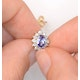 Tanzanite 6 x 4mm And Diamond 18K Gold Earrings  FEG25-V - image 3