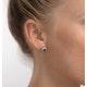 Tanzanite 6 x 4mm And Diamond 18K Gold Earrings - image 2