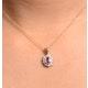 Pink Sapphire 6 X 4mm and Diamond 18K Yellow Gold Pendant - image 4