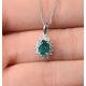 Emerald 0.80CT And Diamond 18K White Gold Pendant - image 3