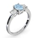 Aquamarine 0.70ct and Lab Diamonds G/Vs 0.50ct 18K White Gold Ring - image 2