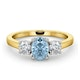 Aquamarine 0.70ct and Diamond 0.50ct 18K Gold Ring  FET23-C - image 3