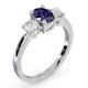 Tanzanite 0.80ct And Lab Diamonds G/Vs 0.50ct Platinum Ring - image 2