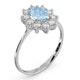 Aquamarine 0.70ct and Diamond 0.50ct 18K White Gold Ring  FET25-CY - image 3