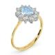 Aquamarine 0.70ct and Diamond 0.50ct 18K Gold Ring - image 3