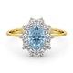Aquamarine 0.70ct and Diamond 0.50ct 18K Gold Ring - image 2