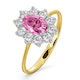 18K Gold 0.50ct Diamond and 1.05ct Pink Sapphire Ring - image 1
