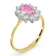 18K Gold 0.50ct Diamond and 1.05ct Pink Sapphire Ring - image 3