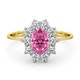 18K Gold 0.50ct Diamond and 1.05ct Pink Sapphire Ring - image 2
