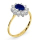 Sapphire 0.80ct And Diamond 0.50ct 18K Gold Ring - image 3
