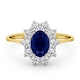 Sapphire 0.80ct And Diamond 0.50ct 18K Gold Ring - image 2