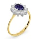 Tanzanite 7 x 5mm And Diamond 0.50ct 18K Gold Ring - image 3
