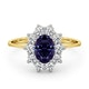 Tanzanite 7 x 5mm And Diamond 0.50ct 18K Gold Ring - image 2