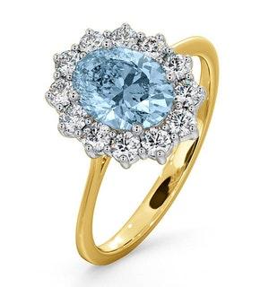 Aquamarine 1.10ct and Diamond 0.50ct 18K Gold Ring