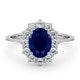Sapphire 1.55ct And Diamond 0.50ct 18K White Gold Ring - image 2
