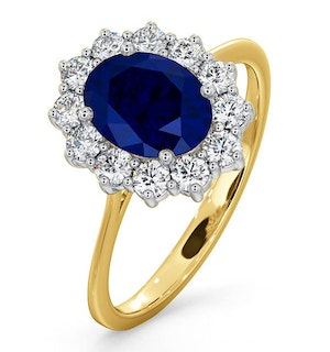 Sapphire 1.55ct And Diamond 0.50ct 18K Gold Ring
