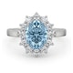 Aquamarine 1.70ct and Diamond 1.00ct 18K White Gold Ring - image 2