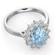 Aquamarine 1.70ct and Diamond 1.00ct 18K White Gold Ring - image 3