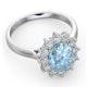Aquamarine 1.70ct and Diamond 1.00ct Platinum Ring - image 3