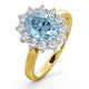 Aquamarine 1.70ct and Diamond 1.00ct 18K Gold Ring - image 1